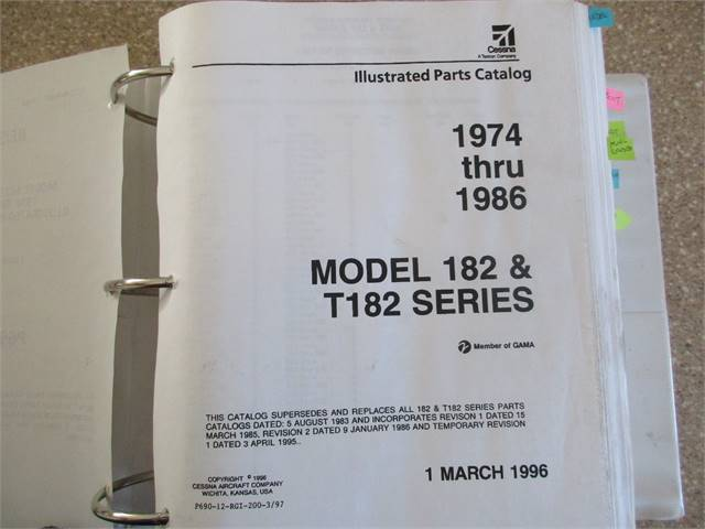 1974 Thru 1986 182 and 182T Illustrated Parts Catalog