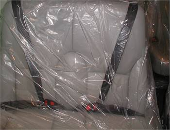 Cessna 208 Two Place Commuter Bench Seat - Gray Leather  - Part # 2614077-49